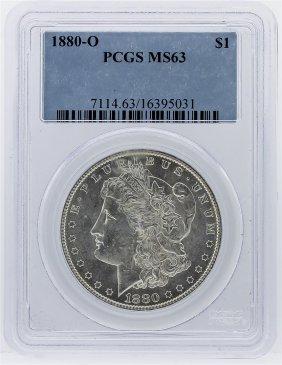 1880-o Morgan Silver Dollar Coin Pcgs Graded Ms63