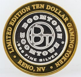 Boomtown Reno, Nv $10 Casino Gaming Token .999 Fine