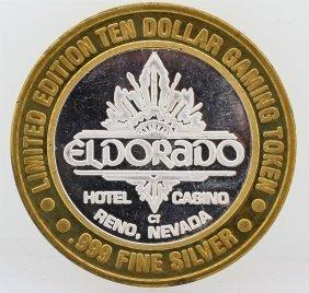 Eldorado Reno $10 Casino Gaming Token .999 Fine Silver