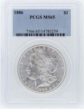 1886 Pcgs Ms65 Morgan Silver Dollar