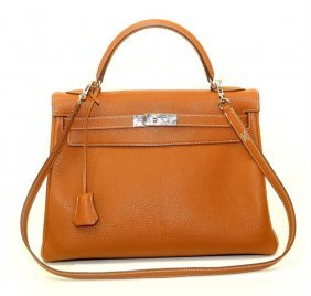 Authentic Hermes Kelly Gold 32cm Phw