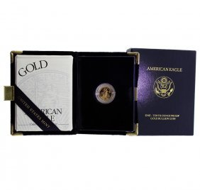 2002 1/10 Oz $5 Gold American Eagle Proof Coin