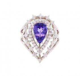 14kt White Gold 2.01ct Tanzanite And Diamond Ring