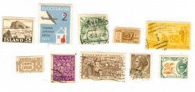 Postage Stamps Assorted Lot Of 10