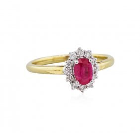 14kt Yellow Gold 0.51ct Ruby And Diamond Ring