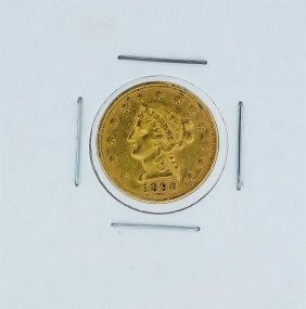 1890 $2.50 Au Liberty Quarter Eagle Head Gold Coin