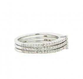 14kt White Gold 0.52ctw Diamond Ring