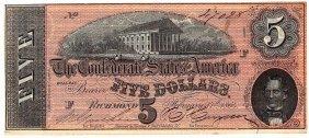$5 1864 Richmond Virginia Confederate States Of America