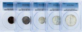Rare 1937 Pcgs Graded (5) Coin Proof Set