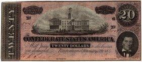 $20 1864 Richmond Virginia Confederate States Of