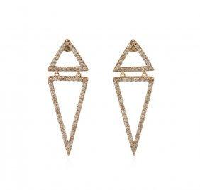 14kt Rose Gold 0.90ctw Diamond Earrings