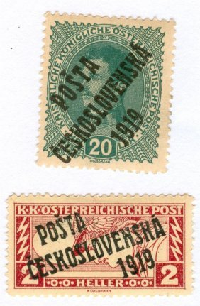 1919 Austria Postage Stamps Lot Of 2