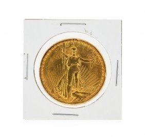 1927 $20 St. Gaudens Double Eagle Gold Coin Au