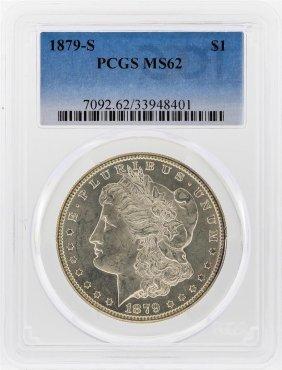 1879-s $1 Morgan Silver Dollar Pcgs Graded Ms62