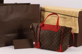Authentic Louis Vuitton Monogram Red Cerise Estrela Nm