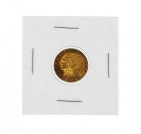 1913 $2 1/2 Indian Head Quarter Eagle Gold Coin Cu