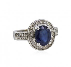14kt White Gold 2.65ct Sapphire And Diamond Ring