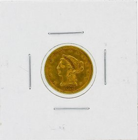 1873 $2.5 Xf Liberty Head Gold Coin