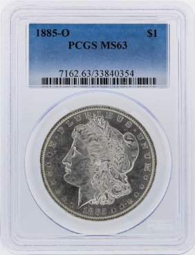 1885-o $1 Morgan Silver Dollar Pcgs Graded Ms63
