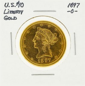 1897-o $10 Liberty Head Eagle Gold Coin