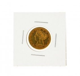 1896 $5 Liberty Head Half Eagle Gold Coin