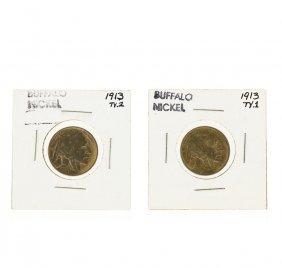 1913 Buffalo Nickel Type 1 & Type 2 Coin Set