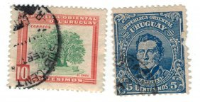 Uruguay Postage Stamps Lot Of 2
