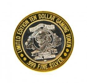 Whiskey Petes $10 Casino Gaming Token .999 Silver
