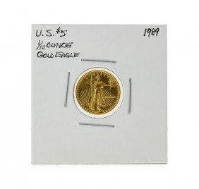 1989 $5 1/10 Oz. American Eagle Gold Coin
