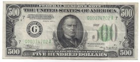 1934a $500 Federal Reserve Bank Note Chicago