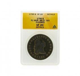 1795 Flowing Hair Half Dollar Anacs Graded Vf20 Details