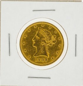 1907 $10 Liberty Head Gold Coin