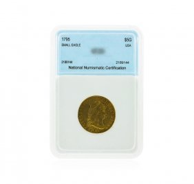 1795 $5 Small Eagle Capped Bust Gold Coin