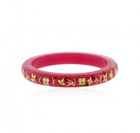 Authentic Louis Vuitton Pink And Gold Enamel Bangle