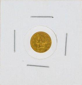 1854-s $1 Liberty Head Gold Dollar Type-1