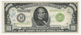1928 $1000 Federal Reserve Bank Note St. Louis