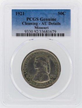 1921 Missouri Centennial Commemorative Half Dollar Pcgs