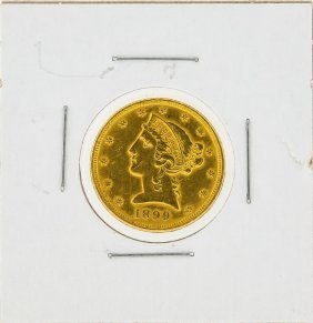 1899 $5 Liberty Head Gold Coin