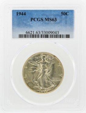 1944 Walking Liberty Half Dollar Coin Pcgs Ms63