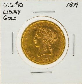 1879 $10 Liberty Head Gold Coin