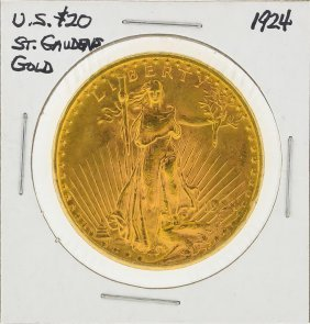 1924 $20 St. Gaudens Head Double Eagle Gold Coin
