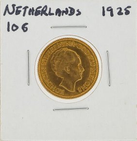 1925 10g Netherlands Gold Coin