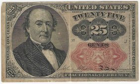 March 3, 1863 Twenty-five Cent Fifth Issue Fractional