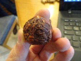 19th Century Toryusai Kozan Carved Nut Netsuke