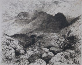 Thomas Moran Etching