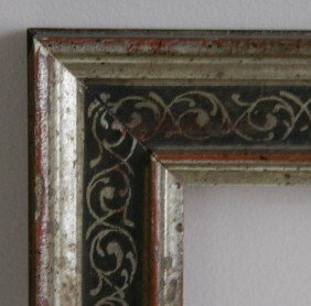 Silver Leaf And Black Painted Frame