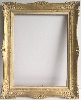 Hand Carved Gilded Frame, Floral And Shell Motif