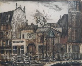 Emil Ganso Dry Point And Aquatint