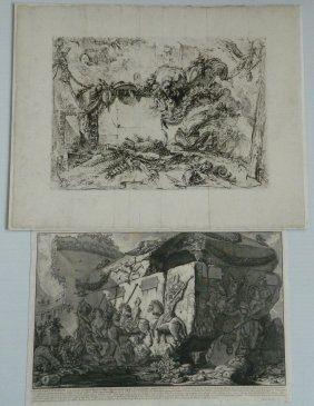 Giovanni Battista Piranesi 2 Etchings