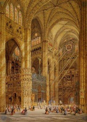 Heinrich Hermann Schafer Watercolor